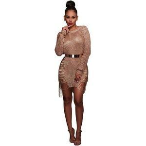 Mesh summer short dress
